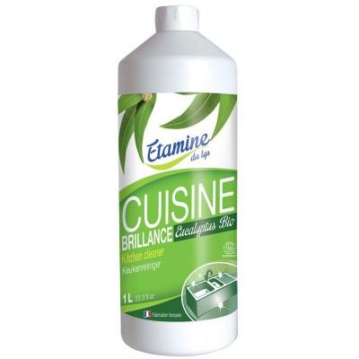 Spray do czyszczenia kuchni 3 w 1 organiczny eukaliptus, uzpełnienie, 1 L-Etamine du Lys