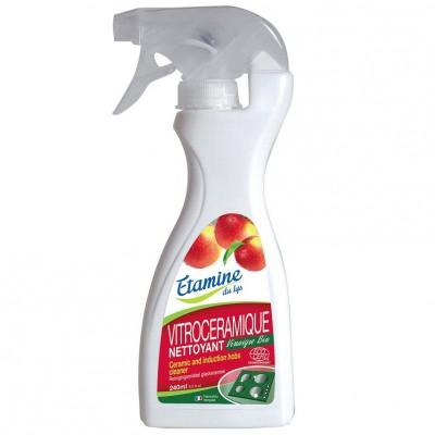 Spray do czyszczenia płyt ceramicznych i indukcyjnych z organicznym octem jabłkowym, 240 ml- Etamine du Lys