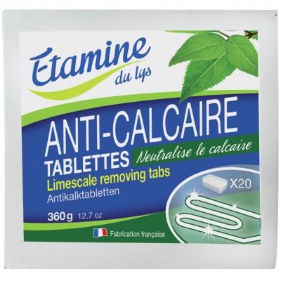 Tabletki do odkamieniania pralek i zmywarek oraz do zmiękczania wody, prania i ochrony kolorów tkanin 20 szt- Etamine du Lys