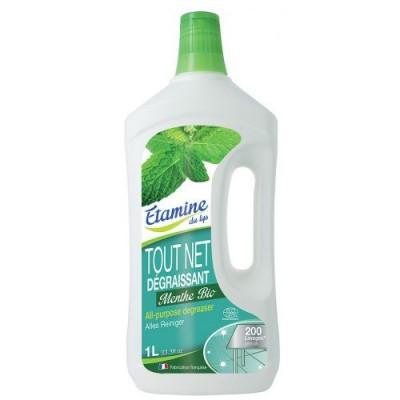 Uniwersalny koncentrat do mycia i odtłuszczania wszystkich powierzchni organiczna mięta, 1 L- Etamine du Lys