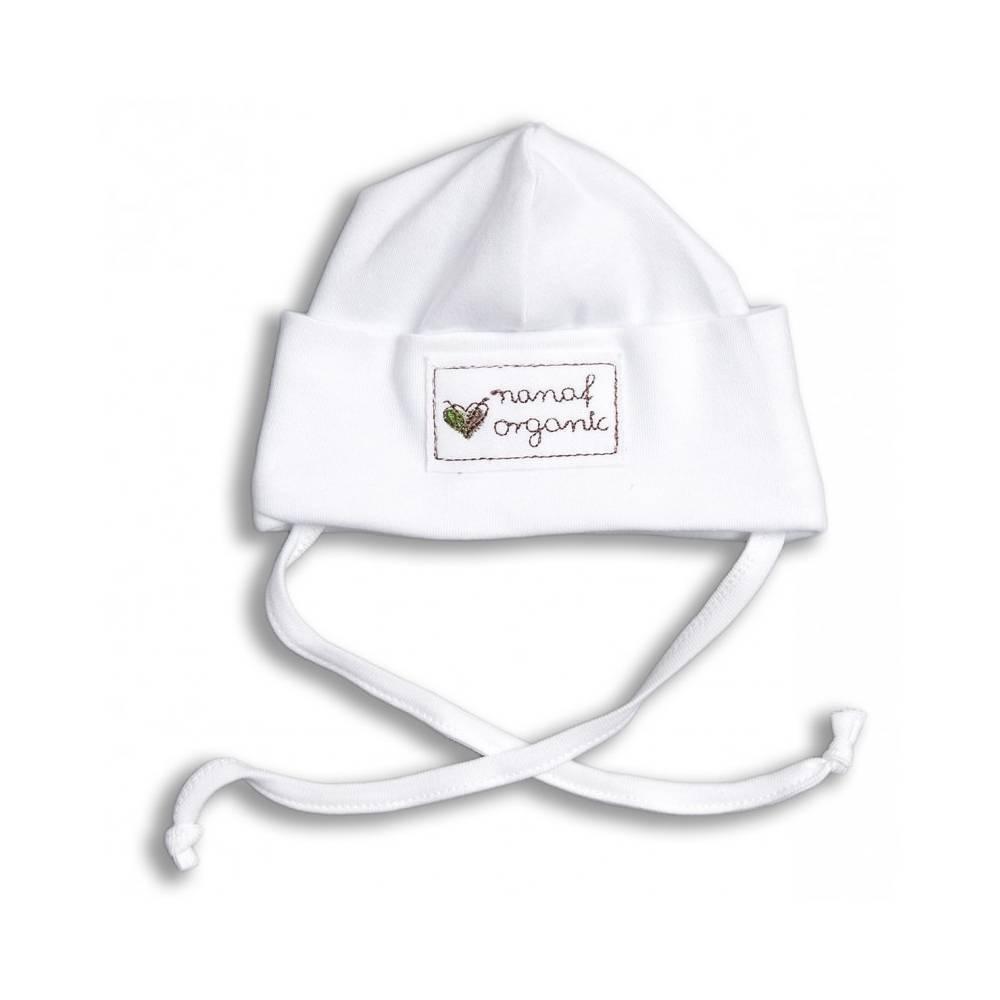 Nanaf Organic, BASIC, Czapka zawijana, biała