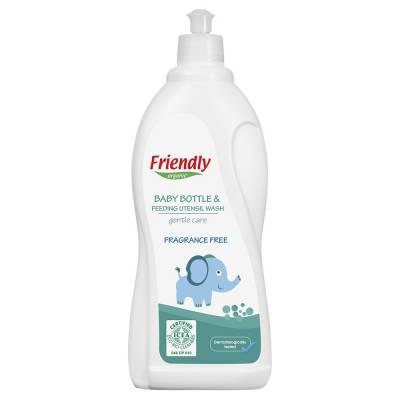 Friendly Organic, Płyn do mycia butelek dziecięcych, bezzapachowy, 750ml