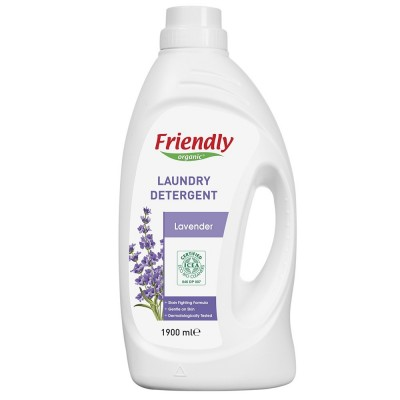 Friendly Organic, Płyn do prania ubrań, lawendowy, 1L, 20 prań