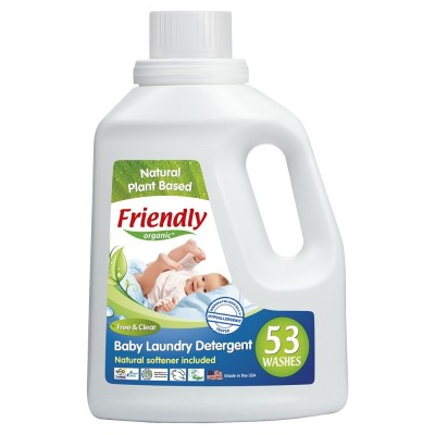 Friendly Organic, Płyn do prania ubranek dziecięcych, bezzapachowy, 1567 ml, 53 prania