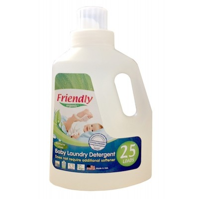 Friendly Organic, Płyn do prania ubranek dziecięcych, bezzapachowy, 739 ml, 25 prań