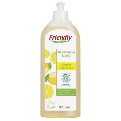 Friendly Organic, Płyn do mycia naczyń, cytrynowy, 500 ml