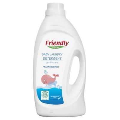 Friendly Organic, Płyn do prania ubranek dziecięcych, bezzapachowy, 1,9L, 38 prań