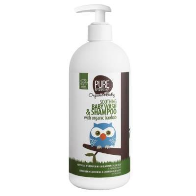Pure Beginnings Organic Kids,  Bąbelkowy Żel do Mycia Ciała z Organicznym Rooibosem, 500ml