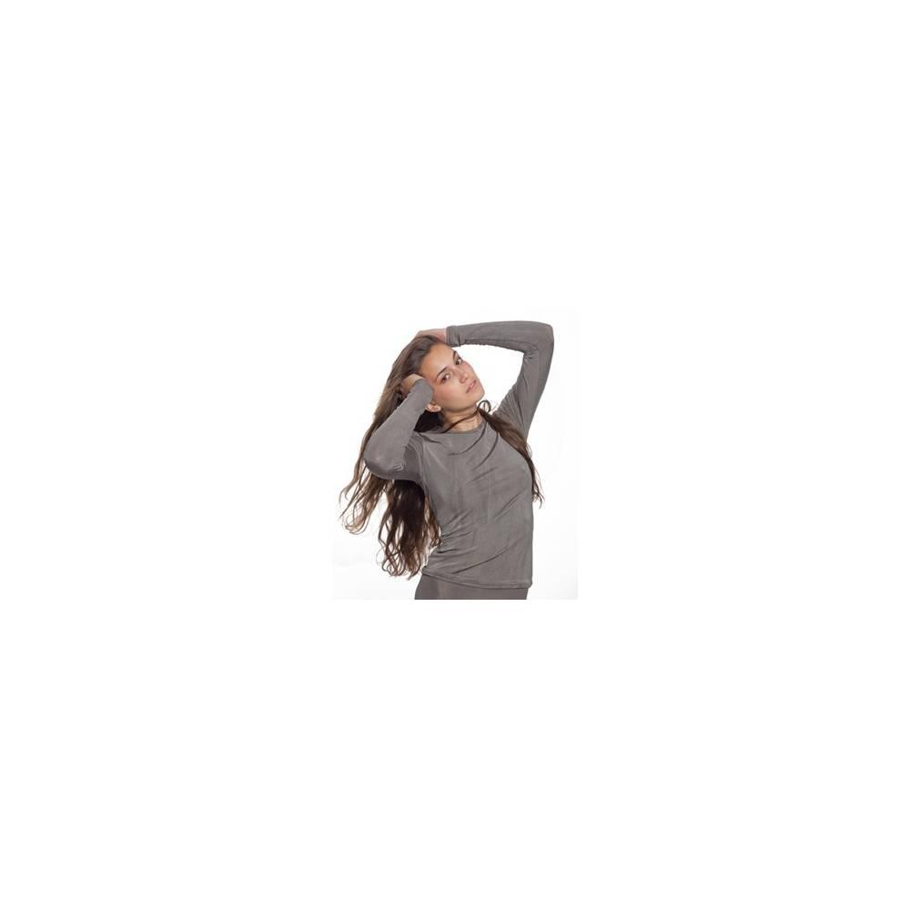T-shirt dla kobiet z długim rękawem PADYCARE pokryty w 100% srebrem