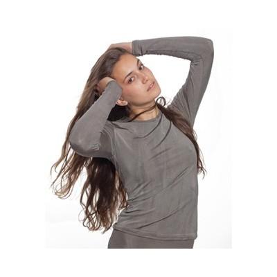 T-shirt dla kobiet z długim rękawem leczniczy na azs PADYCARE pokryty w 100% srebrem