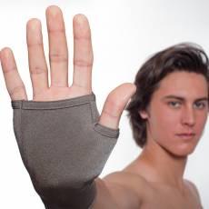Rękawiczki bez palców lecznicze na azs PADYCARE pokryte w 100% srebrem