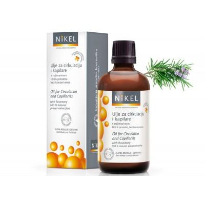 Olejek z liści Rozmarynu poprawiający mikrocyrkulację krwi i niwelujący uczucie ciężkich nóg,100% naturalny,100 ml, NIKEL