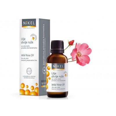 Olejek z kwiatów Dzikiej Róży i Pelargonii wygładzający zmarszczki,100% naturalny, 30 ml, NIKEL