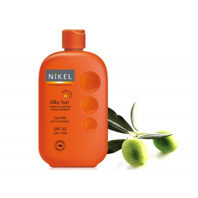 Jedwabiste mleczko do ciała z masłem kokosowym, SPF30 UVA/UVB, 230 ml, Nikel