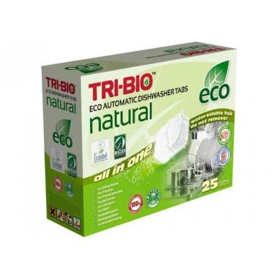TRI-BIO, Ekologiczne Kapsułki do Zmywarki All in One, 25 szt.