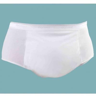 Slipy męskie wielokrotnego użytku z warstwami chłonnymi, stopień 2 i 3 inkontynencji średni i ciężki, BIAŁE DryMed