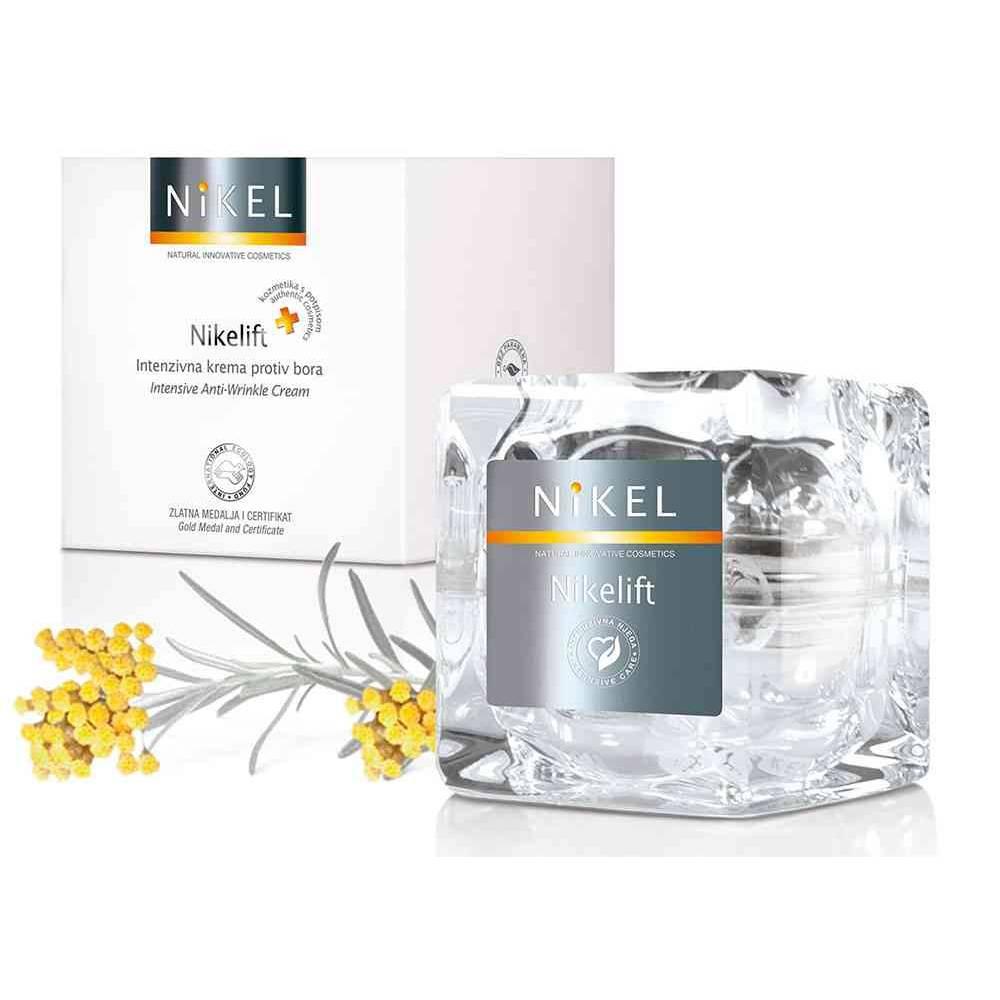 NIKEL, NIKELIFT Przeciwzmarszczkowy krem z Pomarańczą, kwiatem Immortelle, olejkiem sezamowym i wit. E, 50ml