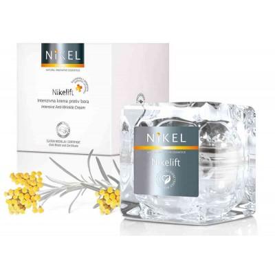 NIKELIFT Przeciwzmarszczkowy krem z Pomarańczą, kwiatem Immortelle, olejkiem sezamowym i wit. E, 50 ml, NIKEL