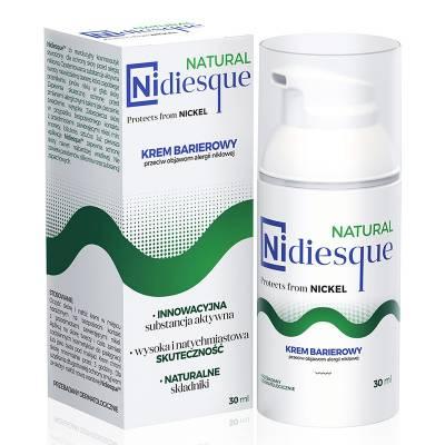 NIDIESQUE NATURAL, Barierowy krem do twarzy i ciała przeciw objawom alergii niklowej, 30 ml, KF Niccolum