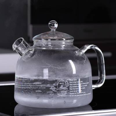 Czajnik szklany żaroodporny Trendglas 1,75 l bez niklu
